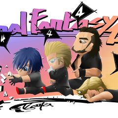 Noctis, Ignis, Gladiolus and Prompto by Kouta Niihara (countdown: 4 days before release)