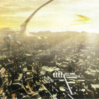 Archylte Steppe 900 AF concept artwork from <i>Final Fantasy XIII-2 Ultimania Omega</i>.