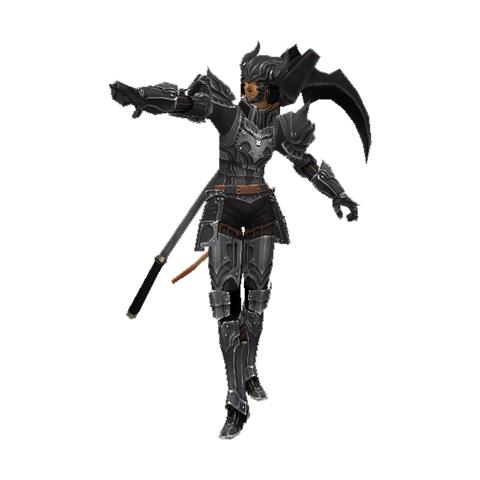 A Mithra Dark Knight wearing Artifact Armor.