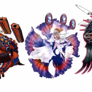 Concept designs of all special dresspheres.