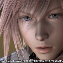 Lightning in the 2006 trailer. Her design was altered in the finalized game.