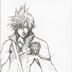 Concept art of Cloud for <i>Advent Children</i>.