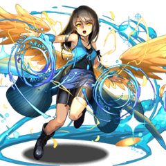 Artwork of Rinoa with angel wings for <i>Puzzle &amp; Dragons</i>.
