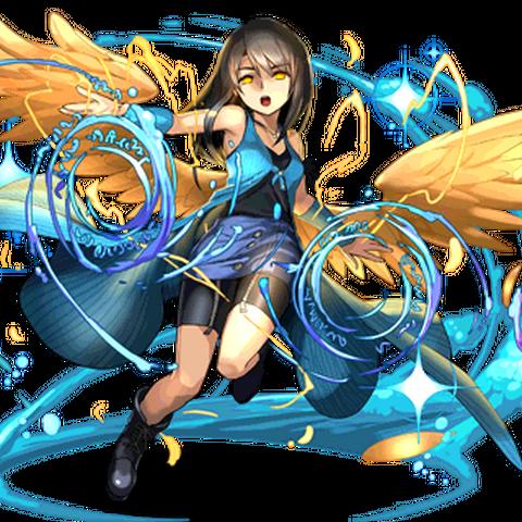 Rinoa with angel wings.