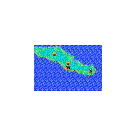 Hellfire Chasm on the World Map (GBA).