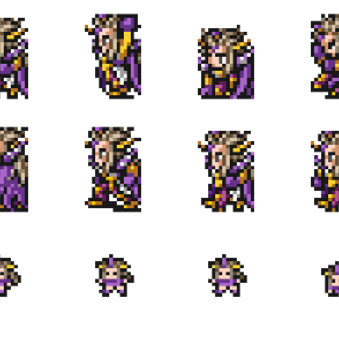 Set of Emperor Mateus's sprites.