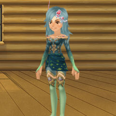 An avatar dressed as Rydia in <i><a href=