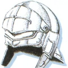 Official art of Mythril Helm from <i>Final Fantasy VI</i>.