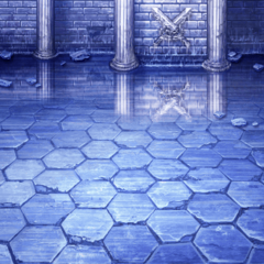 Battle background during final tale (PSP).