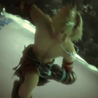 Tidus in <i>Dissidia 012's</i> opening.
