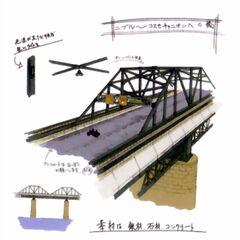 Midgar Bridge artwork in <i>Crisis Core</i>.