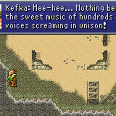 Kefka poisoning Doma's water source (GBA).