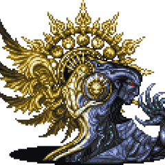 16-bit sprite of Orphan's first form from <i>Final Fantasy XIII</i> online synopsis.