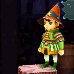Orange Cone Hat in <i>Final Fantasy Crystal Chronicles: Ring of Fates</i>.