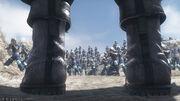Zack facing the Shinra Army