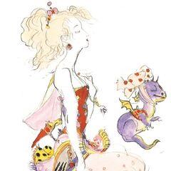 Yoshitaka Amano artwork of Terra.