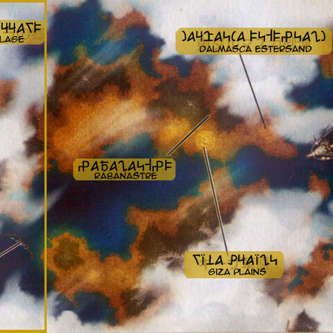 Ivalice world map in <i>Revenant Wings</i>.