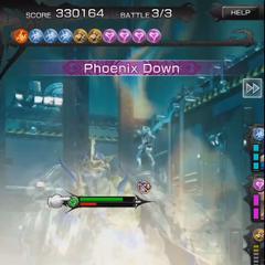 Phoenix Down in-battle in <i><a href=