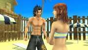 Zack and cissnei at costa del sol