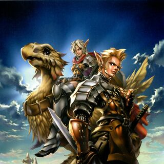 Promotional artwork for <i>Final Fantasy XI</i> by Maeda Hiroyuki.