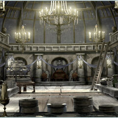 Concept artwork of the banquet room.