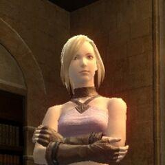 Minfilia's original attire from version 1.0.