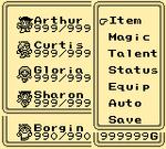 Final Fantasy Legend III Menu