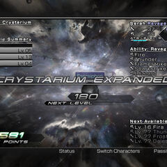 Crystarium Expanded.