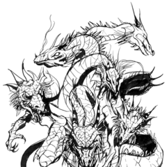 Tiamat, as drawn by <a href=