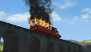 Carraige on fire