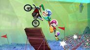 Milo, Bea and Oscar perform a stunt