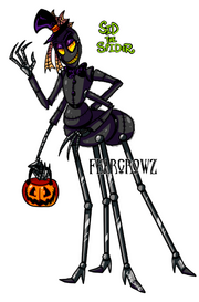 Fnaf oc sid the spider by fearcrowz-d83qeie