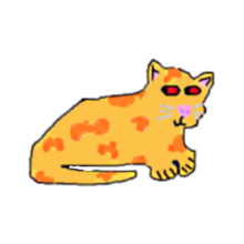 Orange spotted yellow kitty pet