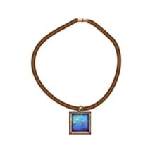 Leather lapis cord necklace