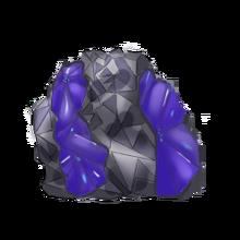 Raw sapphire gem