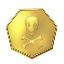 New pirate gold coin