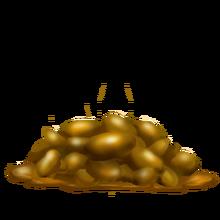 Gold pony poop