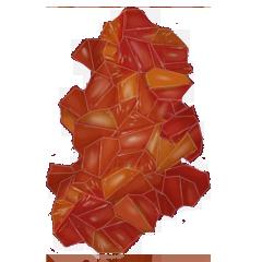 File:Uncut clinohumite gem.png