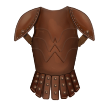 Leather chest piece