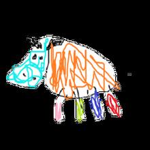Pet raging bull