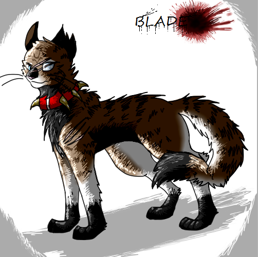 The Blazing Star Warriors: Blade Warrior Cats Bloodclan Oc By Theblazingfox