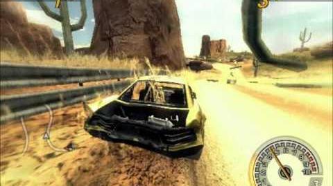 FlatOut 2 Desert Oil Field.