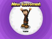 Tony unlocked in Papa's Pastaria