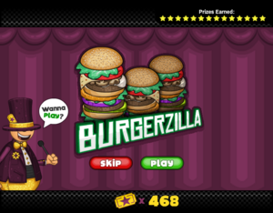 Mini Game - Burgerzilla