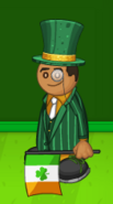 Georgito with a St. Paddy's Day Flag