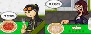Akari and Quinn with wrong pastas