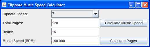FlipnoteMusicSpeedCalculator Screenshot