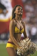 Washington Redskins cheerleader @ game vs New England Patriots 09