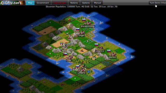 Freeciv.net Turn Based Strategy Gameplay Demo