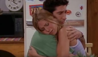 Ross hugs rachel